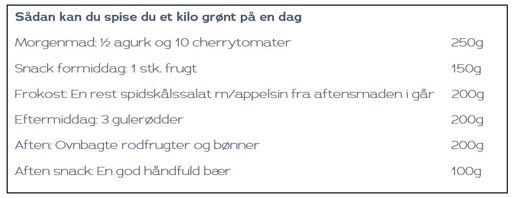 spis 1 kilo grønt